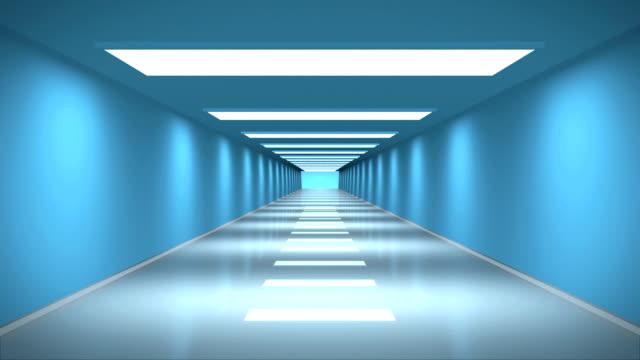 vídeos y material grabado en eventos de stock de futurista túnel en bucle - sala de espera edificio público