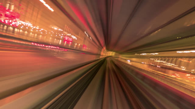 futuristic tunnel red - image stock videos & royalty-free footage