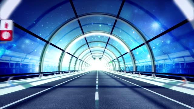 Futuristic tunnel. Space version. HD loop.