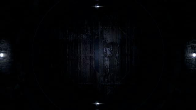 vídeos y material grabado en eventos de stock de túnel de futurista - puerta estructura creada por el hombre