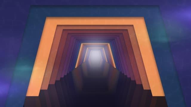 futuristische tunnel mit licht-hintergrund - fluchtpunkt stock-videos und b-roll-filmmaterial