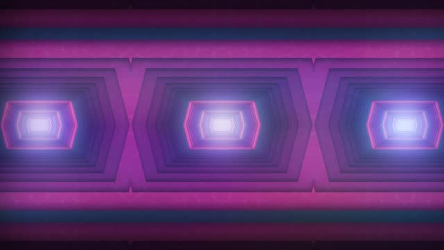 futuristic tunnel with lights background - surrounding wall stock videos & royalty-free footage