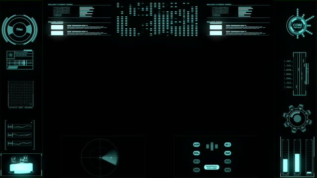 futuristic user interface hud technology control center - projection screen stock videos & royalty-free footage