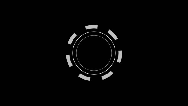vidéos et rushes de interface utilisateur futuriste avec hud et éléments infographic. boucler. canal alpha. - holographie