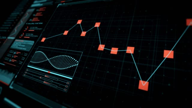 futuristic user interface with hud and infographic elements. - control room stock videos & royalty-free footage