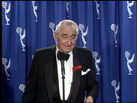 fyvush finkel at the 1994 emmy awards press room at the pasadena civic auditorium in pasadena california on september 11 1994 - pasadena civic auditorium stock videos & royalty-free footage