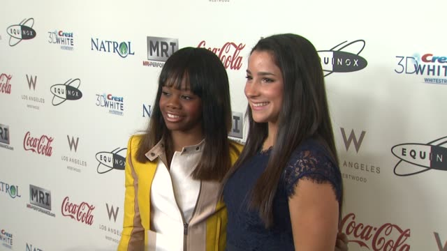 Gabby Douglas Aly Raisman at CW3PR Presents Gold Meets Golden At Equinox Sports Club Hosted By Nicole Kidman 1/12/2013 in Los Angeles CA