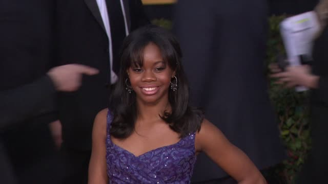 Gabby Douglas at 19th Annual Screen Actors Guild Awards Arrivals on 1/27/13 in Los Angeles CA