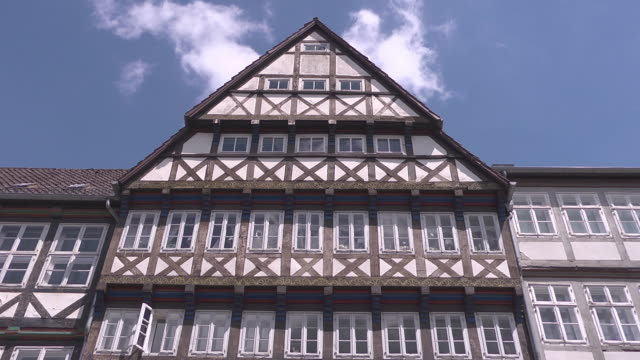 gable and windows of a half timbered house - gable stock videos & royalty-free footage
