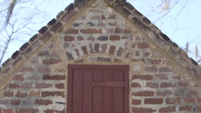 gable opening on slave quarters - gable stock videos & royalty-free footage