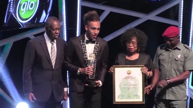 Gabon and Borussia Dortmund star striker Pierre Emerick Aubameyang upstages favourite Yaya Toure to win a first African Player of the Year Award