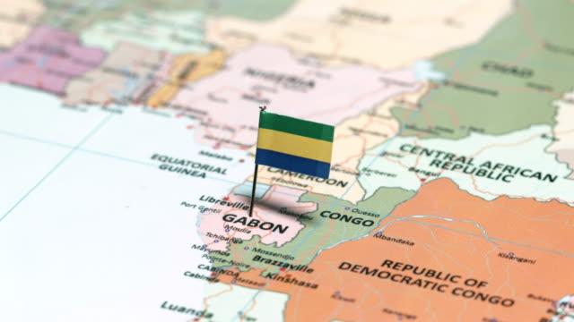 vidéos et rushes de gabon avec drapeau national - port saïd
