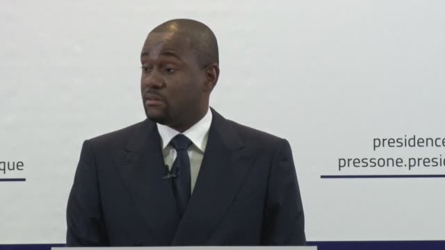 gabonese president ali bongo's spokesman denies rumours that the president has enlisted a body double to take his place during the months following a... - spokesman stock videos and b-roll footage