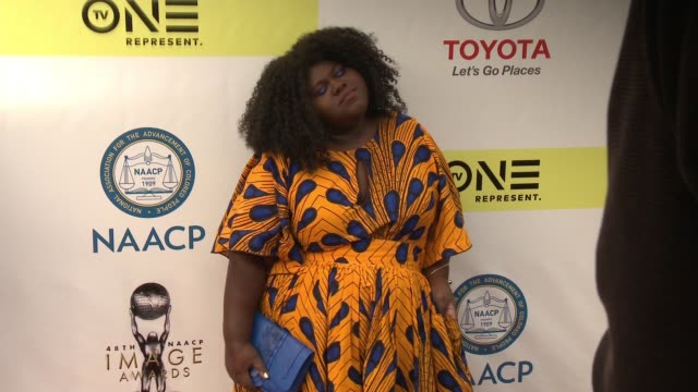 Gabourey Sidibe at 48th NAACP Image Awards at Pasadena Civic Auditorium on February 11 2017 in Pasadena California