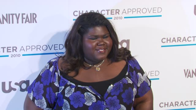Gabourey Sidibe at the 2nd Annual Character Approved Awards Cocktail Reception at New York NY