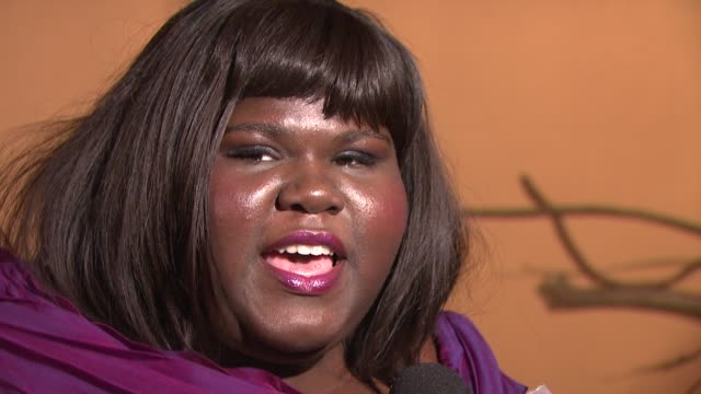 Gabourey Sidibe at the MoMA's Second Annual Film Benefit Honoring Tim Burton at New York NY