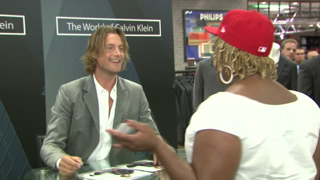Gabriel Aubry and fans at the Macy's Celebrates 'The World of Calvin Klein' with Gabriel Aubry at Macy's Herald Square in New York New York on...