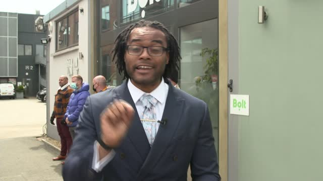 gabriel bringye murder: private hire drivers protest outside bolt offices over safety fears; uk, london, chiswick; protesters marching with placards,... - crime and murder stock videos & royalty-free footage