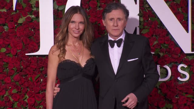 gabriel byrne and guest at 2016 tony awards red carpet at the beacon theatre on june 12 2016 in new york city - 70th annual tony awards stock videos and b-roll footage