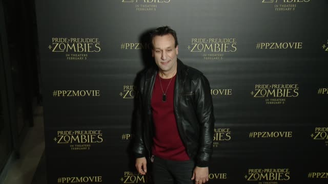 Gabriel Jarret at the 'Pride And Prejudice And Zombies' Los Angeles Premiere at Harmony Gold Theater on January 21 2016 in Los Angeles California