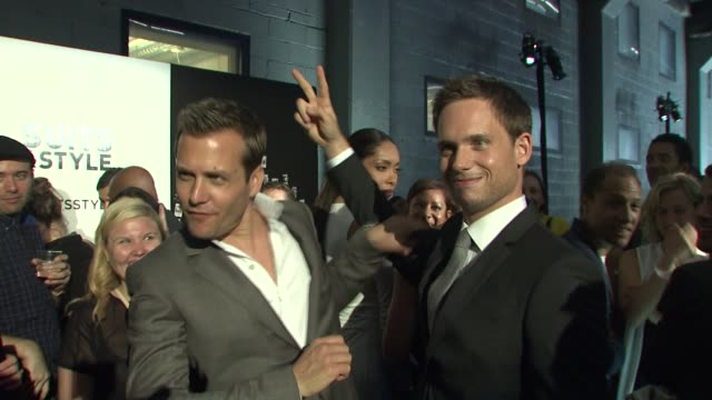 Gabriel Macht and Patrick J Adams at the Suits and Mr Porter Fashion Show on 6/12/2012 in New York NY United States