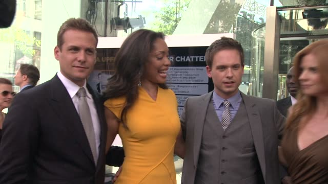 Gabriel Macht Gina Torres Patrick J Adams and Sarah Rafferty at 2012 USA Network Upfront Event at Alice Tully Hall Lincoln Center on May 17 2012 in...