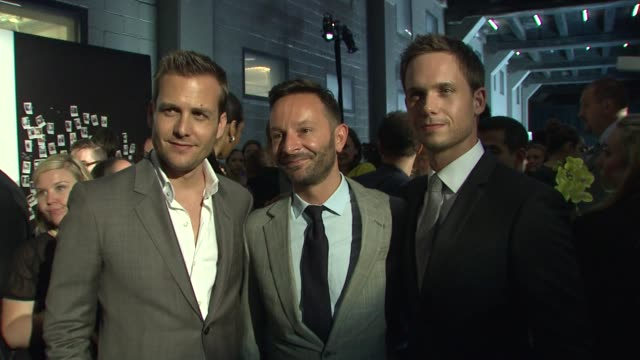 Gabriel Macht Jeremy Langmead and Patrick J Adams at the Suits and Mr Porter Fashion Show on 6/12/2012 in New York NY United States