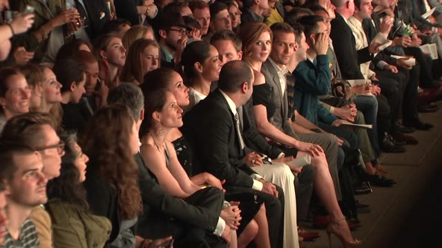 Gabriel Macht Sarah Rafferty Patrick J Adams Gina Torres Rick Hoffman and Meghan Markle at the Suits and Mr Porter Fashion Show on 6/12/2012 in New...