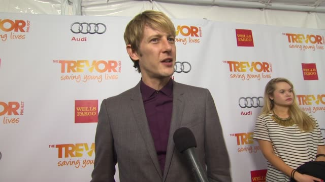 gabriel mann on why he supports the trevor project what he is most looking forward to and why katy perry is deserving of the trevor hero award at the... - the trevor project stock videos and b-roll footage