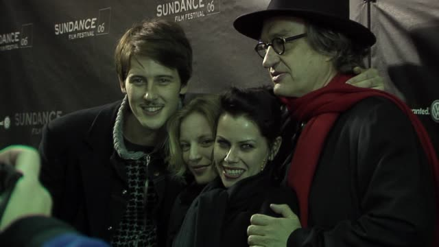 Gabriel Mann Sarah Polley Fairuza Balk and Wim Wenders at the 2006 Sundance Film Festival Don't Come Knocking Premiere at the Eccles Theatre in Park...