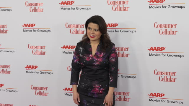 gabriela rodriguez at the 18th annual movies for grownups awards at the beverly wilshire four seasons hotel on february 04, 2019 in beverly hills,... - フォーシーズンズホテル点の映像素材/bロール
