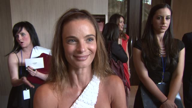Gabrielle Anwar on the event the Canadian Seal Hunt pets at the 23rd Genesis Awards at Los Angeles CA