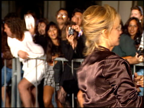Gabrielle Carteris at the Planet Hollywood entrances on September 17 1995
