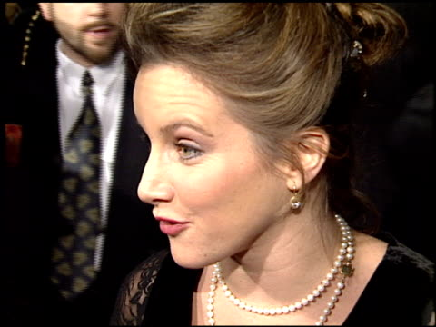 gabrielle carteris at the 'sunset boulevard' premiere at shubert theater in century city, california on november 30, 1993. - 1993 stock videos & royalty-free footage