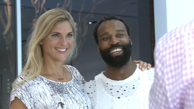 gabrielle reece and baron davis at the laird hamilton launches laird apparel at ron robinson on october 22 2015 in santa monica california - gabrielle reece stock videos and b-roll footage