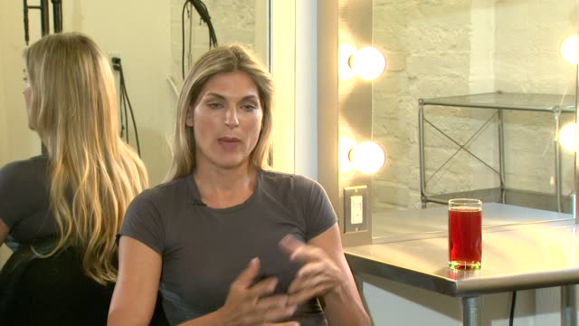 gabrielle reece on getting the sweetness and body goals using purevia at the purevia photo shoot with gabrielle reece at west hollywood ca - gabrielle reece stock videos and b-roll footage