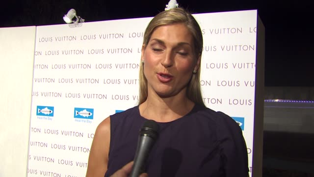 gabrielle reece on hosting tonight's event on the new store on her dress and on what comes to mind when she hears the name louis vuitton at the louis... - gabrielle reece stock videos and b-roll footage