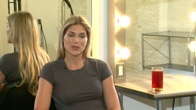 gabrielle reece on purevia and response to people using it at the purevia photo shoot with gabrielle reece at west hollywood ca - gabrielle reece stock videos and b-roll footage