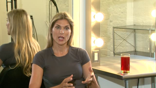 gabrielle reece on purevia being a natural sweetenner at the purevia photo shoot with gabrielle reece at west hollywood ca - gabrielle reece stock videos and b-roll footage