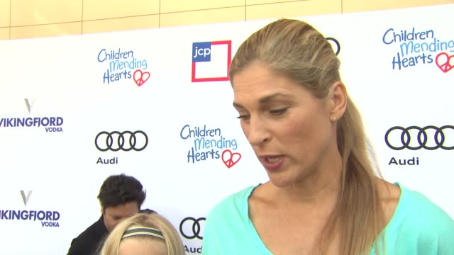 interview gabrielle reece on the event and charity at 1st annual children mending hearts style sunday on 6/92/13 in los angeles ca - gabrielle reece stock videos and b-roll footage