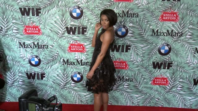 gabrielle union at 10th annual women in film pre-oscar cocktail party presented by max mara and bmw at nightingale plaza on february 24, 2017 in los... - nightingale stock videos & royalty-free footage