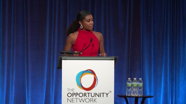 SPEECH Gabrielle Union at Daniel Craig and Rachel Weisz CoChair The Opportunity Network's 11th Annual Night of Opportunity Gala at Cipriani Wall...