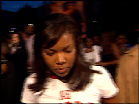 gabrielle union at the 'hardball' premiere at paramount studios in hollywood california on september 14 2001 - paramount studios stock videos and b-roll footage