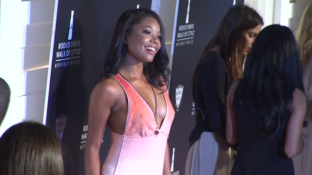 gabrielle union at the iman and missoni honored with rodeo drive walk of style at beverly hills ca - missoni stock videos & royalty-free footage