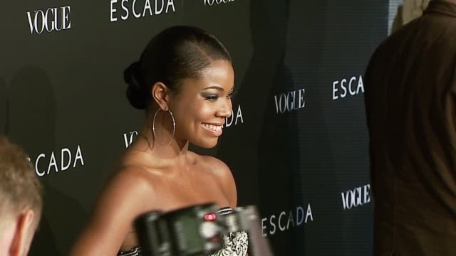 gabrielle union at the the grand opening of the beverly hills flagship boutique celebrated by escada hilary swank and vogue at escada in beverly... - escada stock videos & royalty-free footage