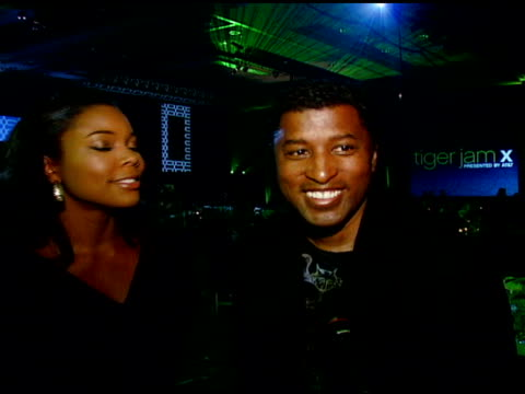 Gabrielle Union Kenneth 'Baby Face' Edmonds and Chris Tucker on giving back to the community helping kids raising funds in Las Vegas on hearing Bon...
