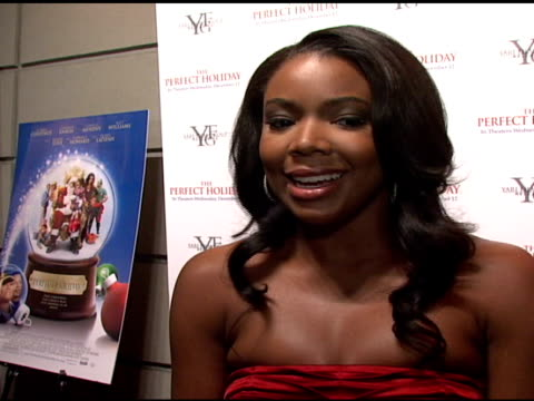 gabrielle union on reprising her role as mom on the big screen her favorite thing to do her holiday plans and her mustdo thing while in nyc at the... - marquee nightclub manhattan stock-videos und b-roll-filmmaterial