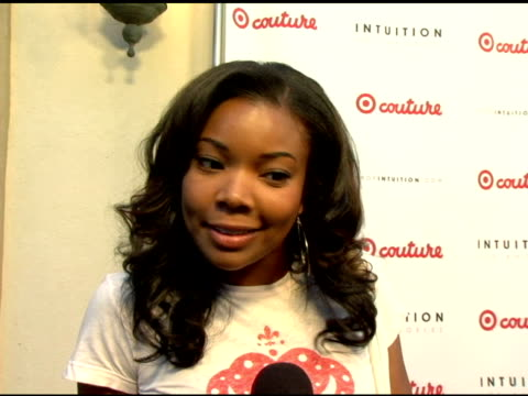 gabrielle union on target at the launch the target couture collection by intuition founder jaye hersh at social hollywood in hollywood california on... - jaye hersh stock videos and b-roll footage
