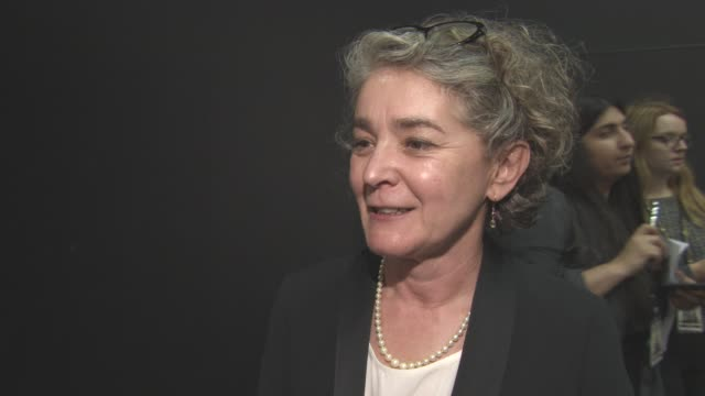 gaby chiappe on the good reviews, the writing, feminism at 'their finest' - premiere at bfi southbank on april 12, 2017 in london, england. - bfi southbank stock videos & royalty-free footage