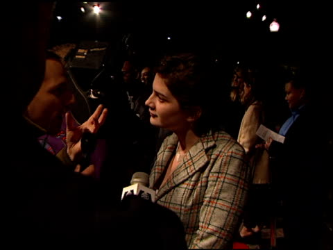 gaby hoffmann at the 200 cigarettes premiere at paramount studios in hollywood california on february 10 1999 - paramount studios stock videos and b-roll footage